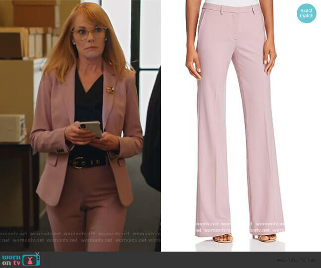 Demitria Wool-Blend Flared Pants by Theory worn by Lisa Benner (Marg Helgenberger) on All Rise