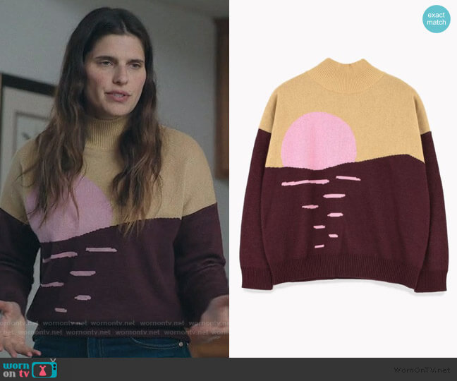 Sunset Sweater by Tiny worn by Rio (Lake Bell) on Bless This Mess