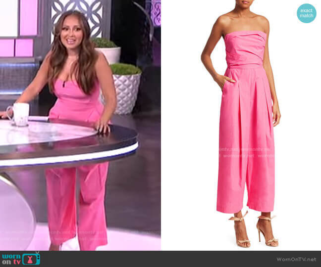 Tristan Strapless Pleated Jumpsuit by Rachel Comey worn by Adrienne Houghton  on The Real