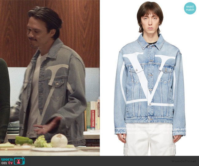 Denim Logo Jacket by Valentino worn by alexander hodge on Insecure