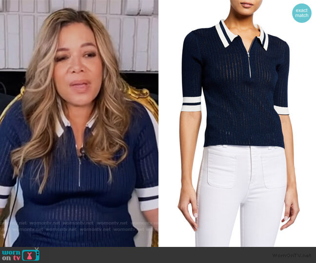 Jorja Half-Zip Polo by Veronica Beard worn by Sunny Hostin  on The View