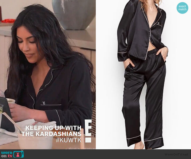 After Hours Pajama Set by Victoria Secret worn by Kim Kardashian  on Keeping Up with the Kardashians