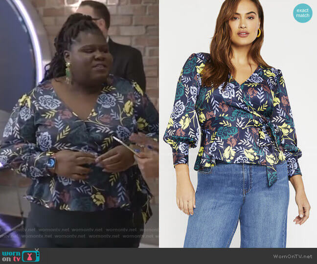 Wrap Front Blouse by Eloquii worn by Becky (Gabourey Sidibe) on Empire