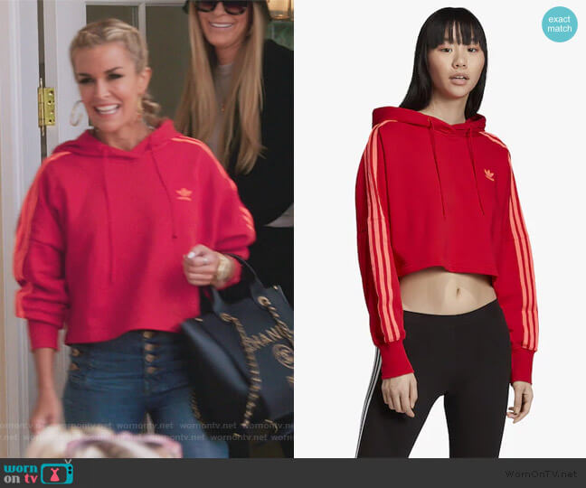 Adicolor Cropped Hoodie by Adidas worn by Tinsley Mortimer  on The Real Housewives of New York City