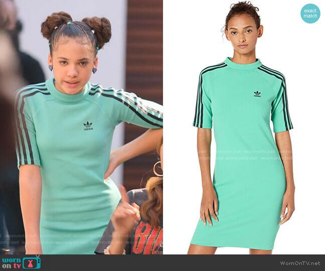 Green Dress by Adidas worn by Izzy Barris (Scarlet Spencer) on BlackAF