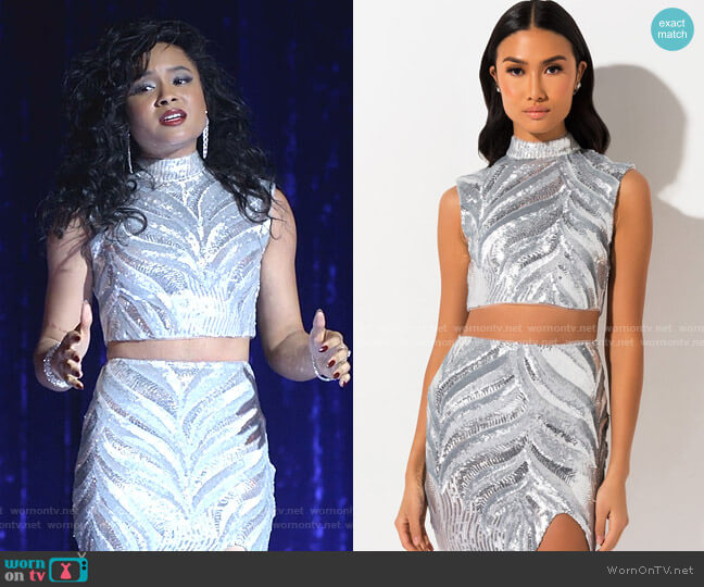 Drama Queen Sequin Crop Top by Akira Label worn by Rhyon Nicole Brown on Empire