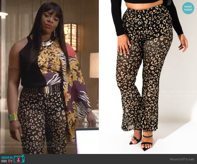 Wild Side Flare Pant by Akira Label worn by Porsha Taylor (Ta'Rhonda Jones) on Empire