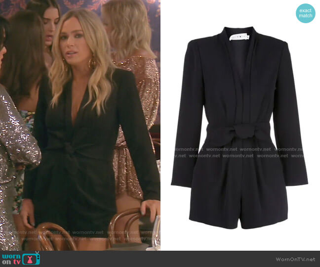Heston Belted Short Jumpsuit by A.L.C. worn by Teddi Mellencamp Arroyave  on The Real Housewives of Beverly Hills