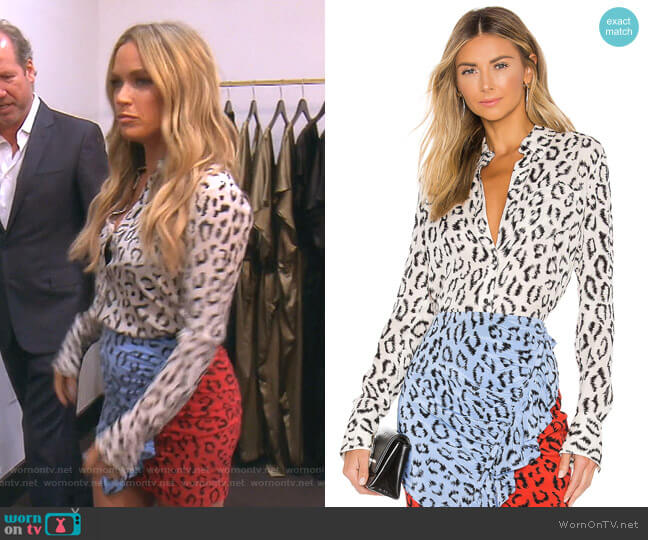 Emerson Blouse by A.L.C worn by Teddi Mellencamp Arroyave  on The Real Housewives of Beverly Hills