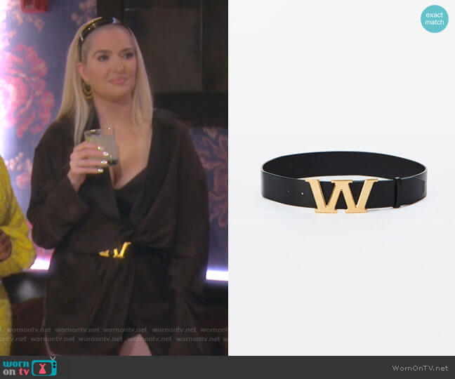 Gold Embossed Belt by Alexander Wang worn by Erika Girardi  on The Real Housewives of Beverly Hills