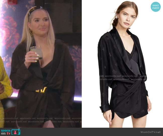 Draped Pajama Romper by Alexander Wang worn by Erika Girardi  on The Real Housewives of Beverly Hills