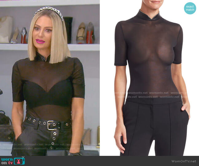 Stand-Up Collar Bodysuit by Alexander Wang worn by Dorit Kemsley  on The Real Housewives of Beverly Hills