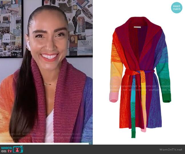 Marketta Rainbow Cardigan by Alice + Olivia worn by Robin Arzon on GMA