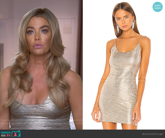 Nelle Fitted Dress by Alice + Olivia worn by Denise Richards  on The Real Housewives of Beverly Hills