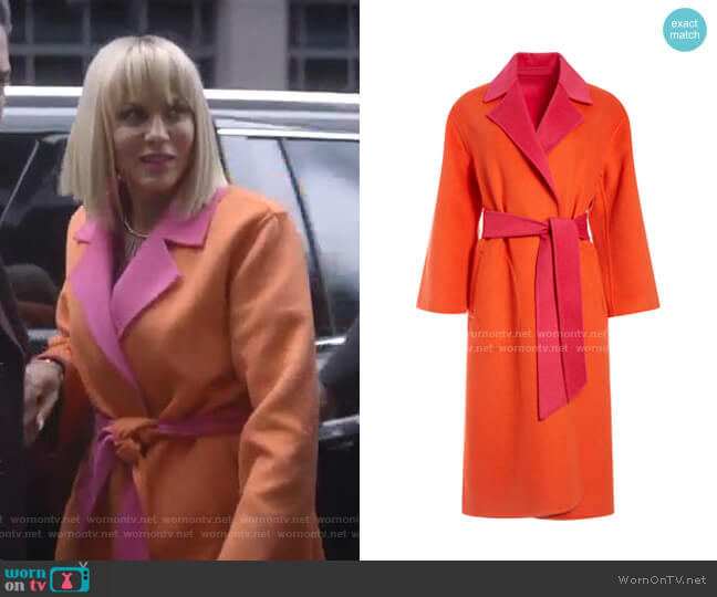 Tomiko Reversible Coat by Alice + Olivia worn by Giselle (Nicole Ari Parker) on Empire