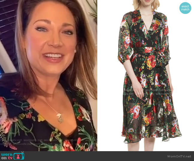 Abney Dress by Alice + Olivia worn by Ginger Zee  on Good Morning America