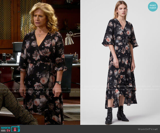 All Saints Delana Eden Dress worn by Vanessa Baxter (Nancy Travis) on Last Man Standing