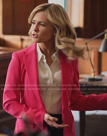 Amy's pink blazer on All Rise