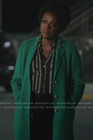Annalise's green coat on How to Get Away with Murder