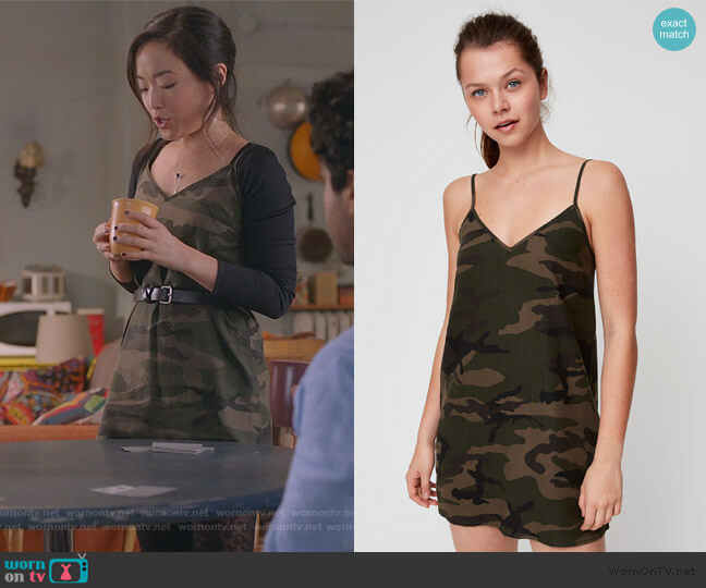 Yirrell Dress by TNA worn by Janet (Andrea Bang) on Kims Convenience