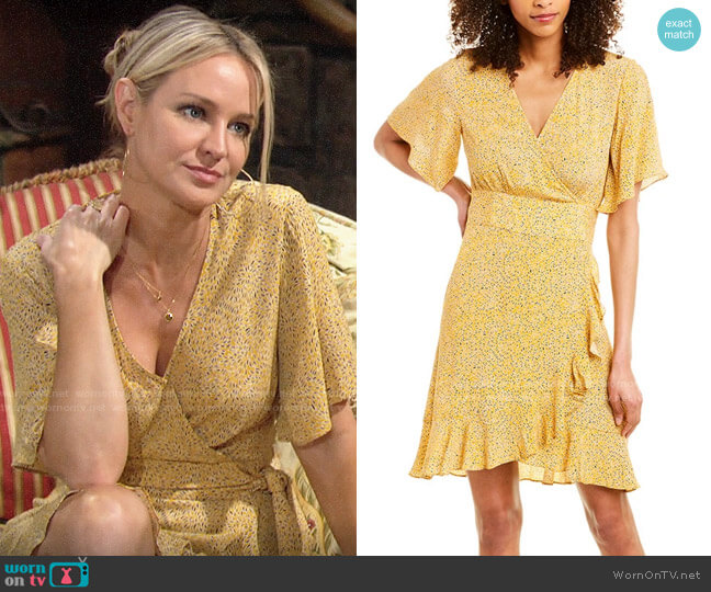 ba&sh Belina Dress worn by Sharon Collins (Sharon Case) on The Young & the Restless