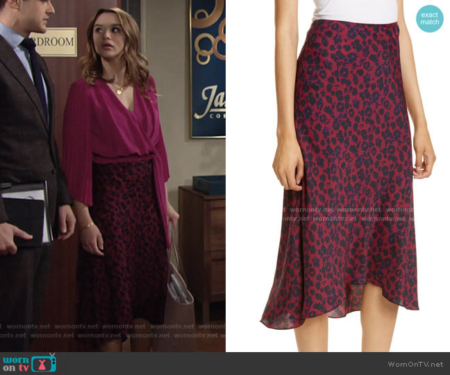 Teddy Skirt by Ba&Sh worn by Summer Newman (Hunter King) on The Young & the Restless