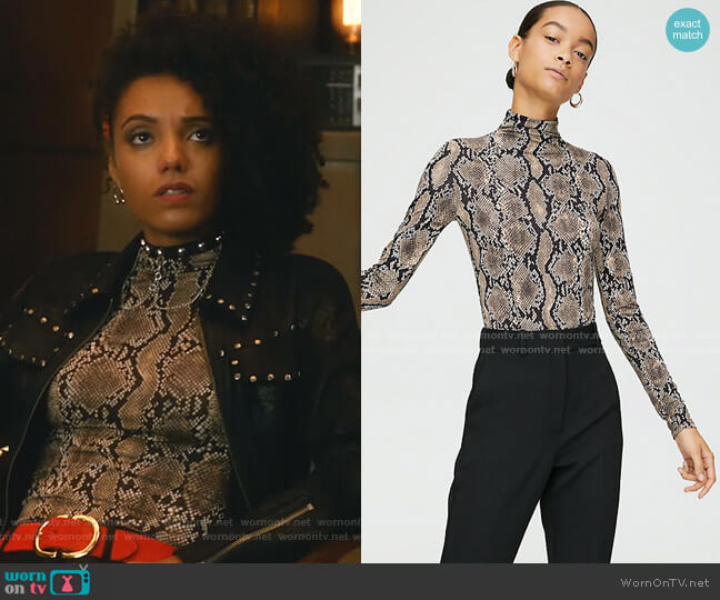 Larry Turtleneck Top by Babaton worn by Charlie (Maisie Richardson-Sellers) on Legends of Tomorrow