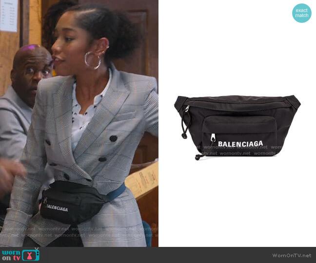 Wheel Logo Belt Bag by Balenciaga worn by Drea Barris (Iman Benson) on BlackAF