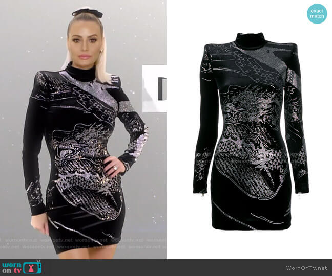 Embellished Fitted Short Dress by Balmain worn by Dorit Kemsley  on The Real Housewives of Beverly Hills