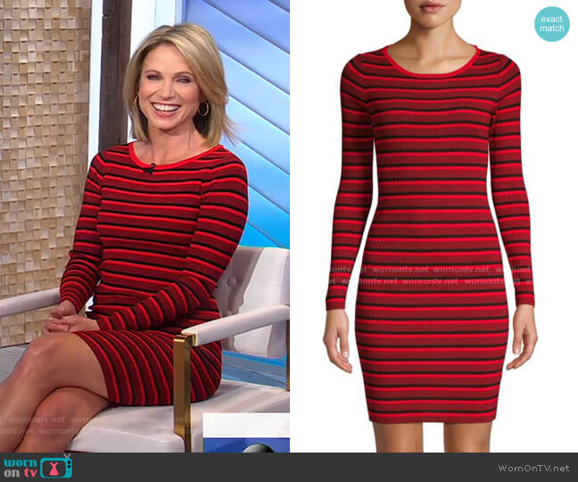Striped Sweater Dress by BB Dakota worn by Amy Robach  on Good Morning America