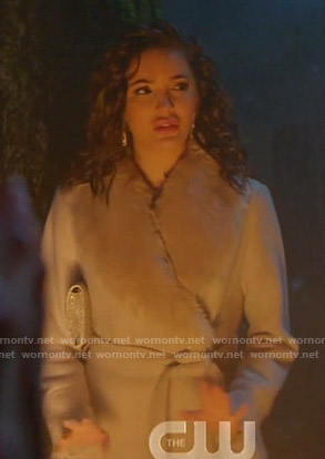 Bess's grey fur collar coat on Nancy Drew