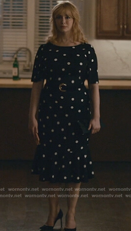 Beth's black polka dot dress on Good Girls