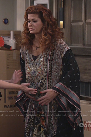 Grace's embellished Kaftan on Will and Grace