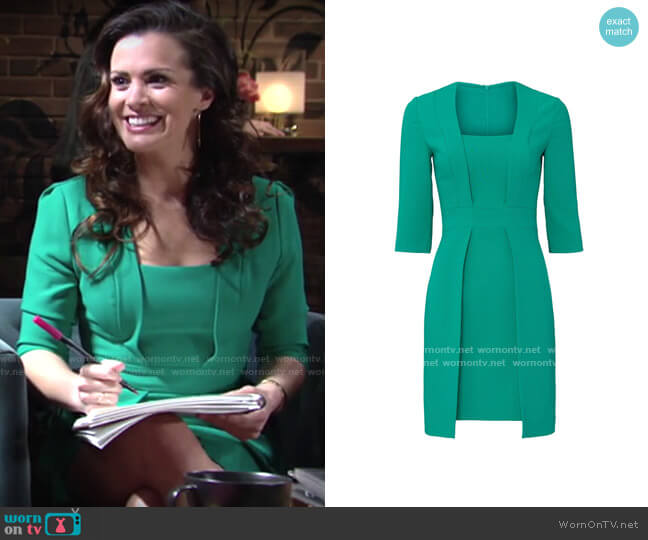 Black Halo Luka Dress worn by Chelsea Lawson (Melissa Claire Egan) on The Young & the Restless