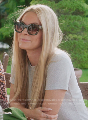 Leah's cats eye sunglasses and hat on The Real Housewives of New York City