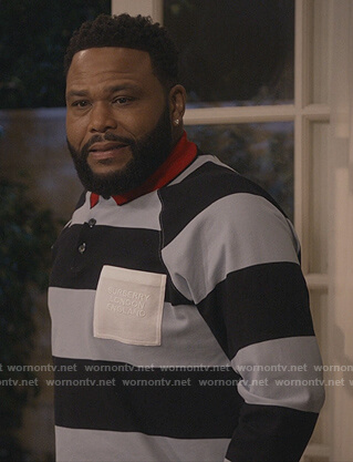 Andre's stripe rugby shirt on Black-ish