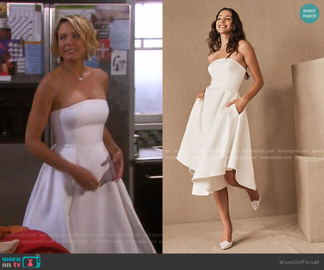 Amande Dress by C/Meo Collective worn by Nicole Walker (Arianne Zucker) on Days of our Lives