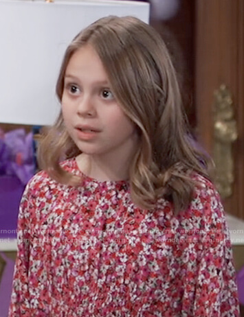 Charlotte's red floral smocked dress on General Hospital