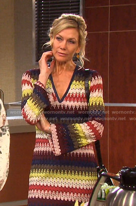 Kristen's multi-color crochet dress on Days of our Lives