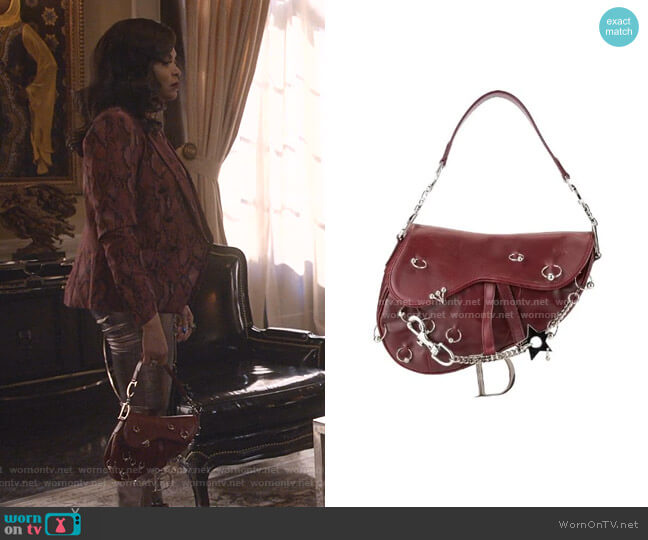 Saddle Piercing Hand Bag by Christian Dior worn by Cookie Lyon (Taraji P. Henson) on Empire