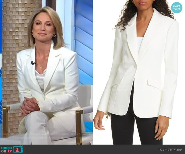 Kym Blazer by Cinq a Sept worn by Amy Robach  on Good Morning America