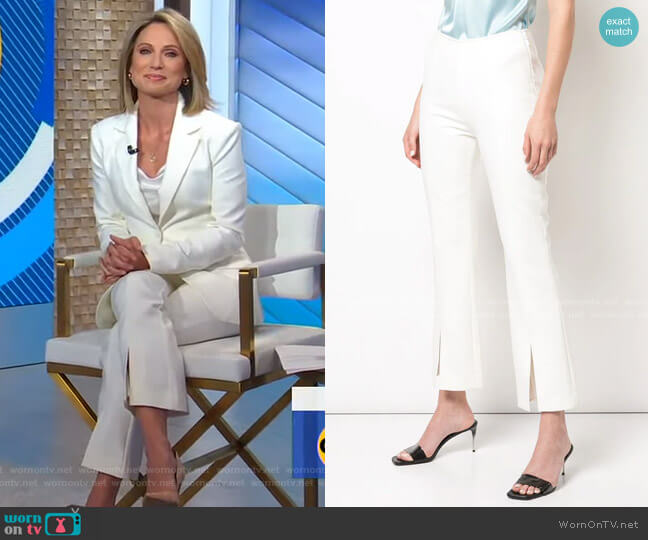 Kym Pants by Cinq a Sept worn by Amy Robach  on Good Morning America