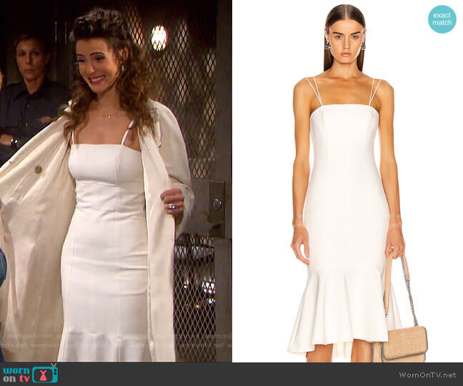 Salina Dress by Cinq a Sept worn by Sarah Horton (Linsey Godfrey) on Days of our Lives