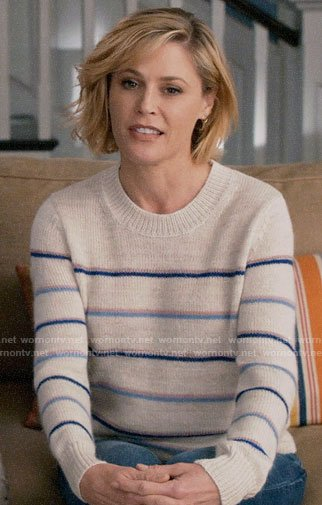 Claire's striped sweater on Modern Family
