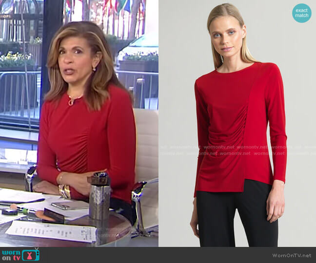 Side Ruched Top by Clara Sunwoo worn by Hoda Kotb  on Today