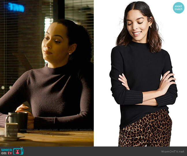 Club Monaco Tommie Sweater worn by Macy Vaughn (Madeleine Mantock) on Charmed