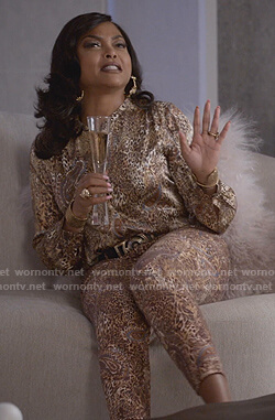 Cookie's leopard print blouse and pants on Empire