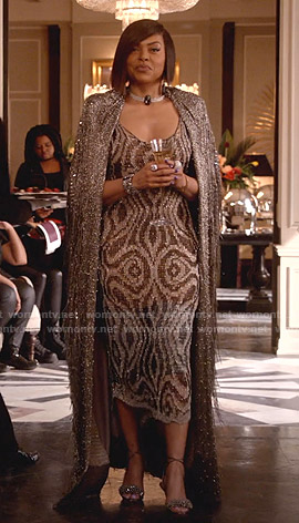 Cookie's metallic knit long dress on Empire