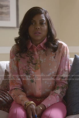 Cookie's pink floral blouse on Empire