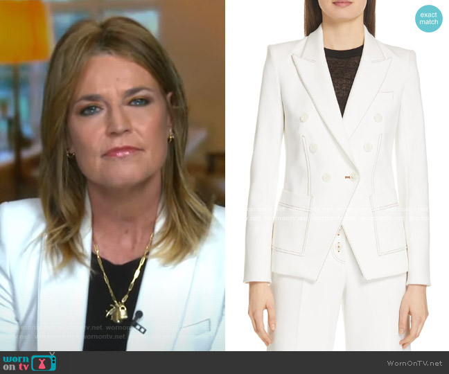 Cosmo Dickey Jacket by Veronica Beard  worn by Savannah Guthrie  on Today